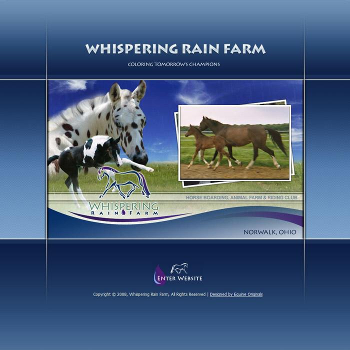 horse farm business cards